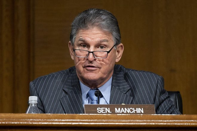 Committee Ranking Member Sen. Joe Manchin, D-WVa., now chairman, speaks before the Senate Energy and Natural Resources Committee during a hearing to examine the nomination to be Secretary of Energy, Wednesday, Jan. 27, 2021 on Capitol Hill in Washington.