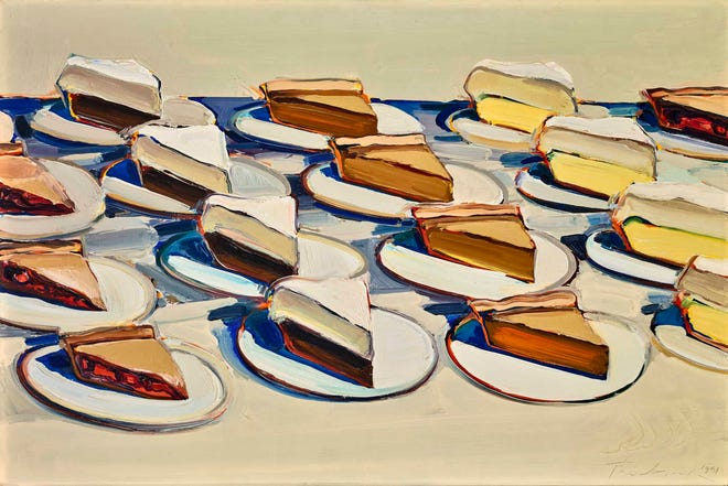 This painting is among those that will be on display as part of the Toledo Museum of Art's exhibit on Wayne Thiebaud. [COURTESY PHOTO]