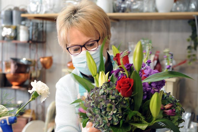 Carol Hurley and her crew at Sunnyside Gardens in Hopkinton were gearing up for Valentine's Day, Feb. 10, 2021. If not for the pandemic, Hurley said things would be quieter this year with Valentine's Day landing on the Sunday starting a school vacation week.