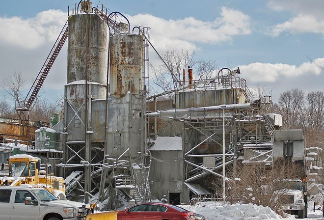 The Graziano Bros cement plant on Adams Street in Braintree.