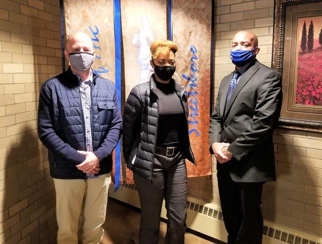 From left are Patrol Supervisor Todd Vargo, Det. Ericka Payne and Det. George Allen.