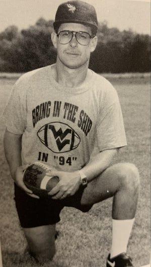 Ron Knepp as Waterloo football in 1994.