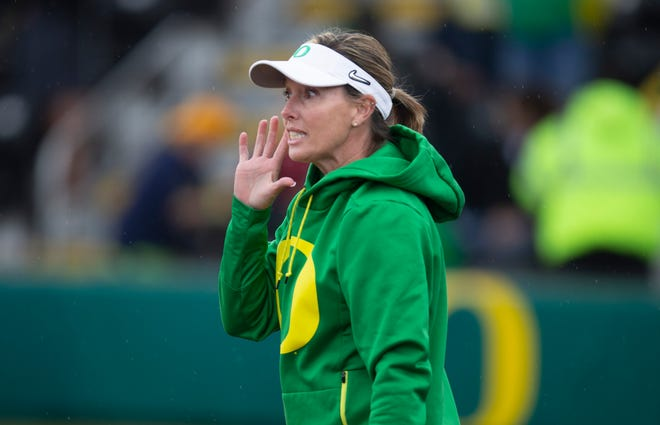 Oregon softball coach Melyssa Lombardi opened her third season at the helm with wins over Weber State and Montana on Friday.