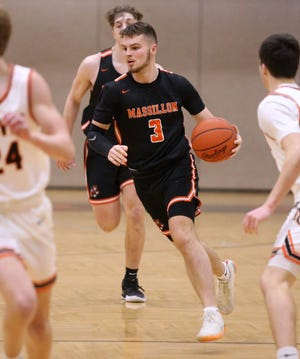Luke Sabo (3) of Massillon is shown during their game at Hoover on Tuesday, Feb. 9, 2021.