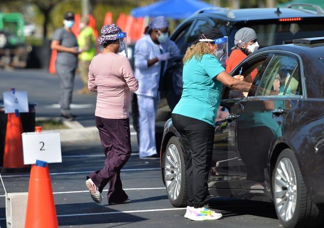 The State Regional Incident Management Team vaccinated about 1,000 people Wednesday at the Venice Community Center.