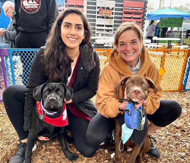 Maryann Mirzai, Tybee the Dog, Dutchen Baker and Blue the Dog.