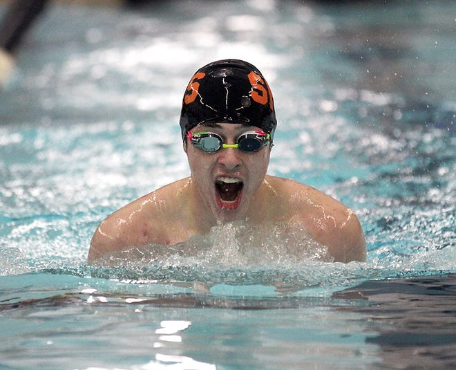 Charles Frost of Sturgis placed second overall in the 200 individual medley on Tuesday.