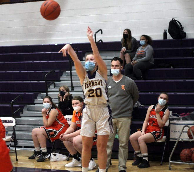 Meagan Lasky led Bronson with 15 points in the season-opener on Tuesday night.