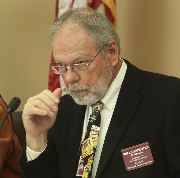 Rep. Will Carpenter remains opposed to the idea of merging KDADS and DCF.