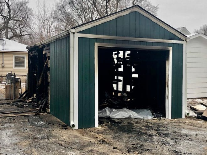 A fire early Wednesday morning did an estimated $10,500 damage at this garage behind 524 N.E. Ohio Ave., authorities said.