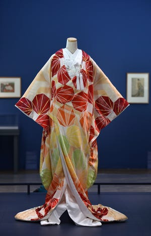 """Traditional kimono design and artistry still practiced by Chiso, the 465-year-old, Kyoto-based kimono house, is on display at Worcester Art Museum's virtual exhibition, """"Kimono Couture: The Beauty of Chiso."""""""
