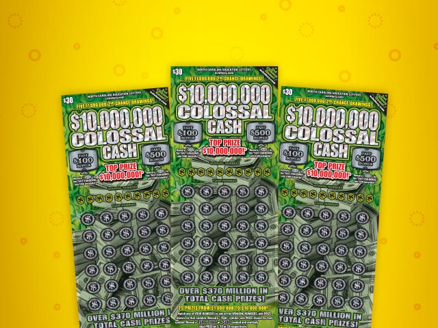 The odds of winning anything in the $10,000,000 Colossal Cash game, including a breakeven prize of $30, are 1 in 2.83.