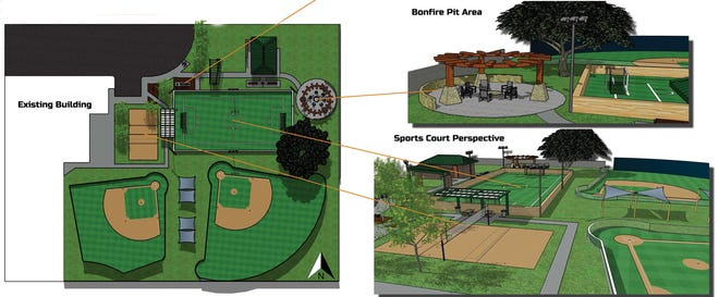 Conceptual drawing showing features the West Side Recreation and Park District would like to fund with a state grant