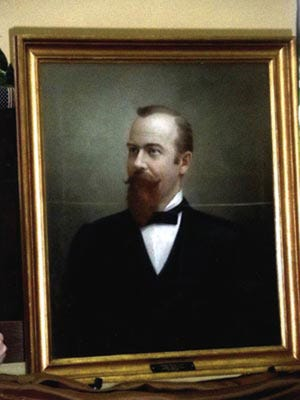 A portrait of W.H. Lynn, founder of Lynn Haven, is currently on display at the Bay County History Museum in downtown Panama City.