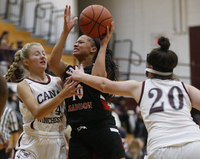 Senior Casey Humphrey averages 15.3 points for Groveport Madison, which is 3-11 overall and 2-6 in the OCC-Buckeye Division. The Cruisers went into a quarantine Feb. 6, costing them their Division I district tournament opener.
