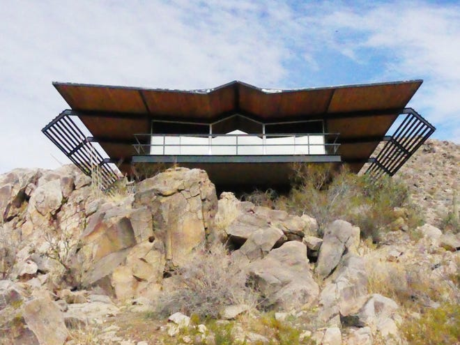 "Built in 1966 by the late-businesswoman Berneice Lynn, the ""Flying Nun House"" on Rimrock Road in Apple Valley is on the market again, this time for $729,000."