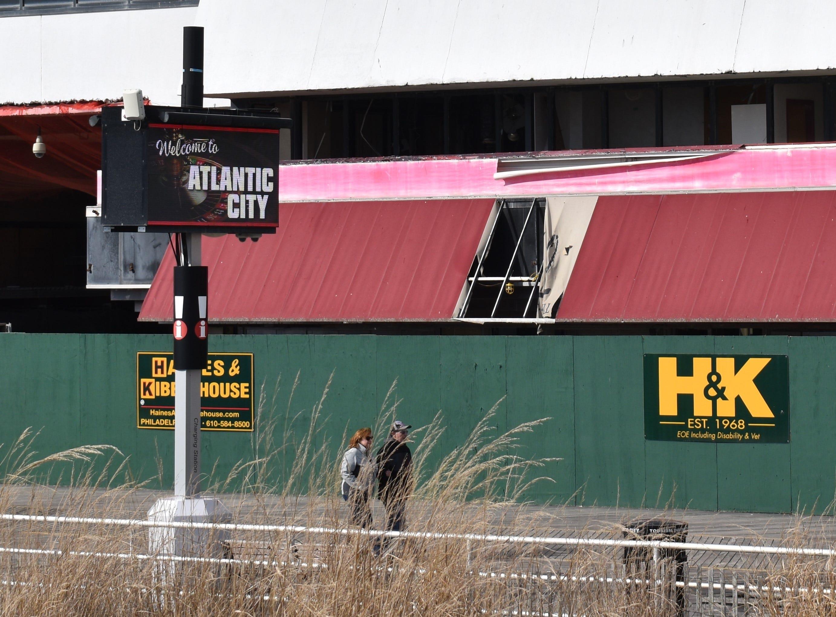 The dilapidated Trump Plaza awaits demolition in Atlantic City.