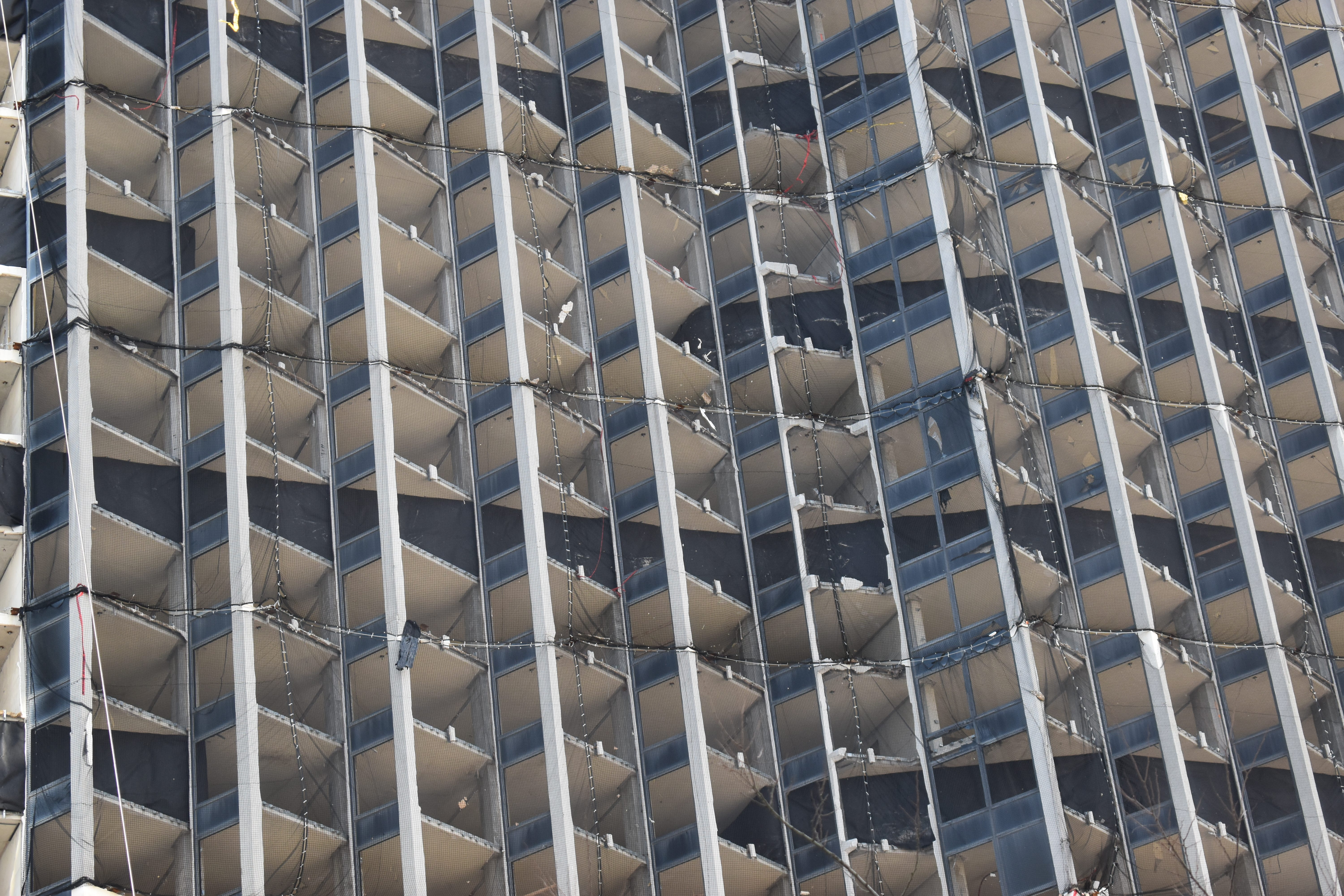 The Trump Plaza's hotel tower awaits implosion.