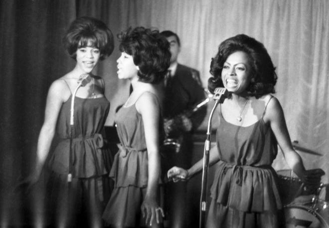 The Supremes, from left, Florence Ballard, Mary Wilson and Diana Ross, perform in 1964. Wilson died Feb. 8 at her home in Las Vegas.