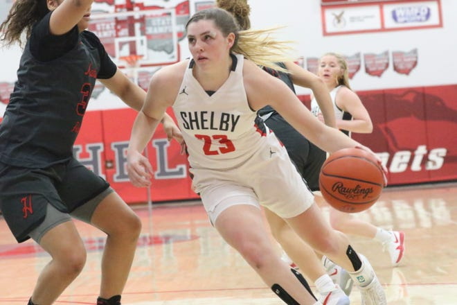 Shelby's Olivia Baker is the 2020-21 Mansfield News Journal girls basketball Player of the Year.
