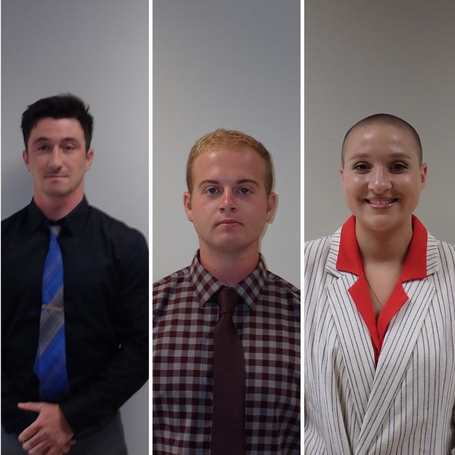 """Cody Elsten, Michael """"Nate"""" Volz and Lydia Hockenberry will be sworn in as Mansfield Fire Department's newest members in a closed ceremony on Feb. 16."""