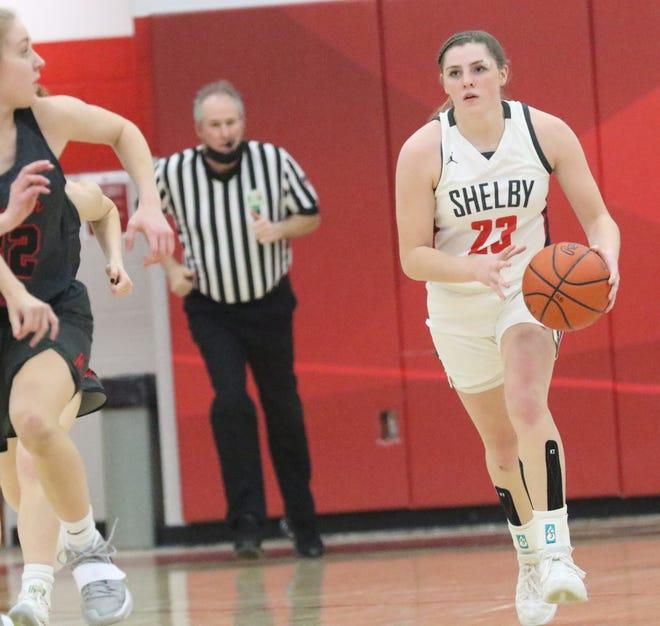 Shelby's Olivia Baker earned All-Ohio honors for the 2020-21 season.
