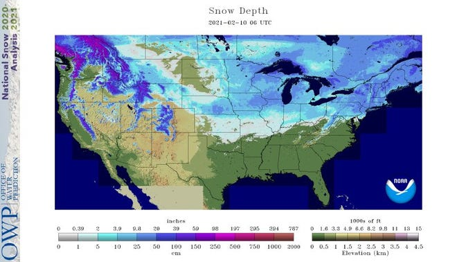 Wisconsin is covered in snow and all that snow is helping to keep temperatures really cold in the state so far this month.
