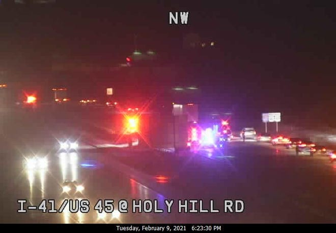 Two separate crashes were delaying traffic on northbound I-41 in Germantown on Tuesday evening.