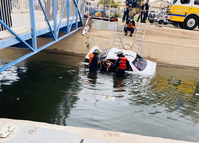 A suspected drunken driver was in critical condition after driving into a canal on Feb. 9, 2021.