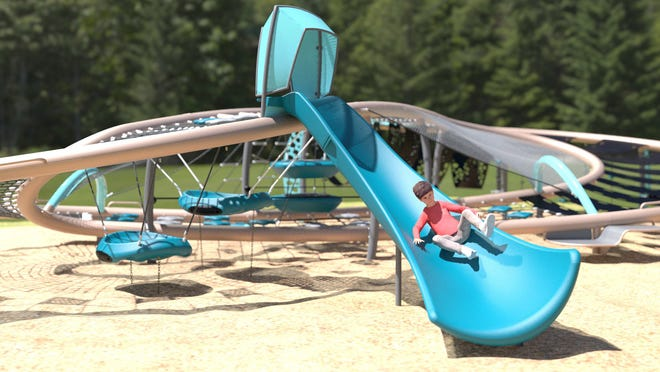 A rendering of the new playscape planned for Palmer Park in Port Huron.