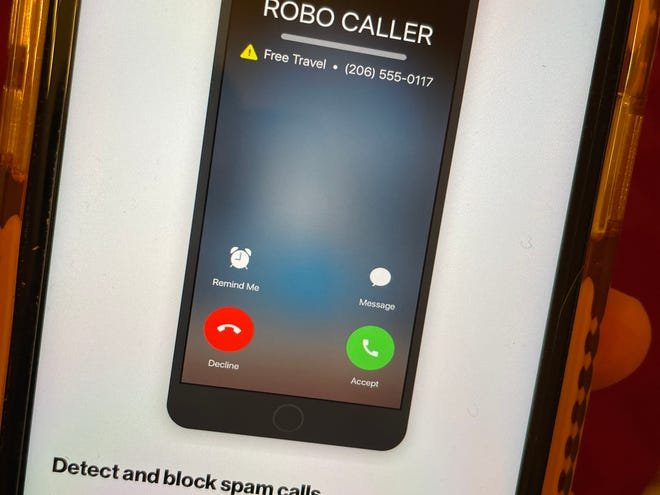 A robocall blocking software app to detect and block spam calls on Verizon Wireless smartphone.