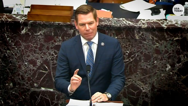 Representative Swalwell says Trump built the mob 'over many months with repeated messages'