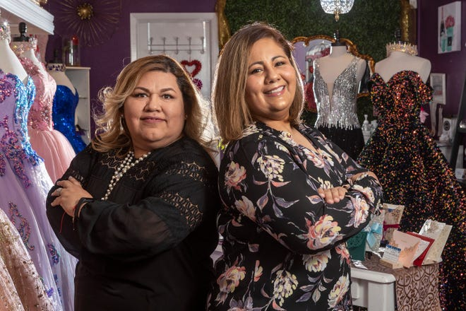 Claudia Lopez and Jesika Zuñiga share space at Nice Boutique in Pflugerville. Lopez is the owner of Nice Boutique and Zuñiga owns JZL Events. The pair received microloans from Just, which focuses on investing in female entrepreneurs.