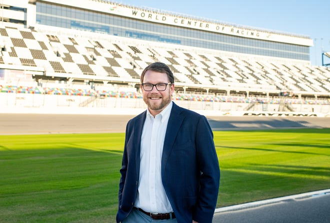 Chip Wile has served as president of the Daytona International Speedway since 2016. The 2021 race is unlike any that have come before, and Wile's work has been instrumental in making sure the event is safe for the limited number of fans in attendance. (Photo by Meagan Scharmahorn)