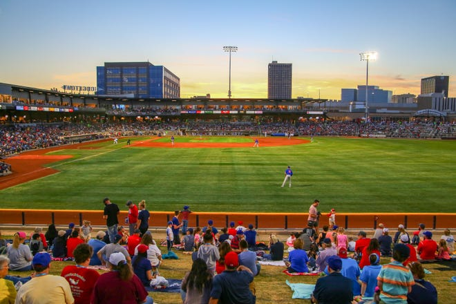 The Sod Poodles play against the Midland Rockhounds during Opening Night on Monday, April 8, 2019, at Hodgetown in downtown Amarillo. The Soddies organization has signed a 10-year affiliation with the Arizona Diamondbacks.