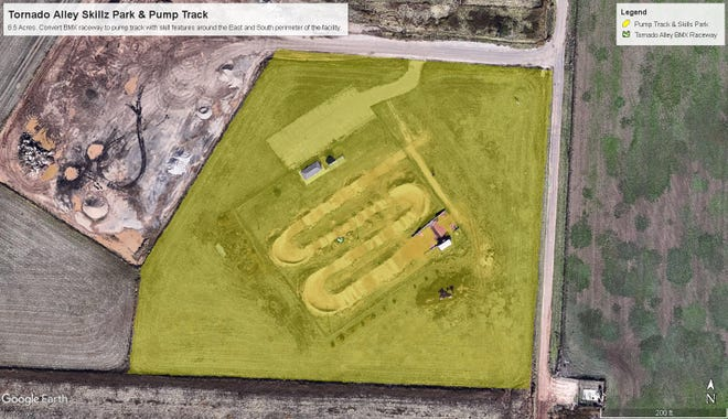 Six Pack Outdoors, Inc. is also seeking to convert the Tornado Alley BMX track into an open to the public pump track and skills park.