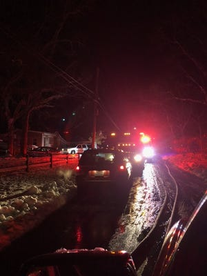 Wall fire at residence on Rose Road early Thursday morning
