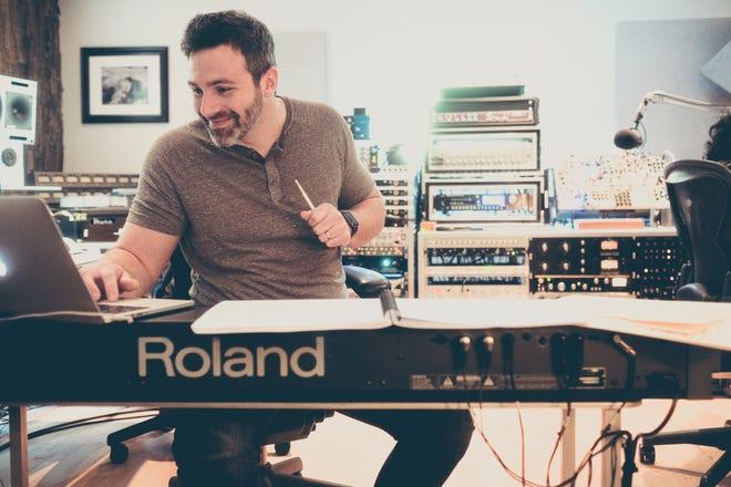 Composer Grant Fonda at work