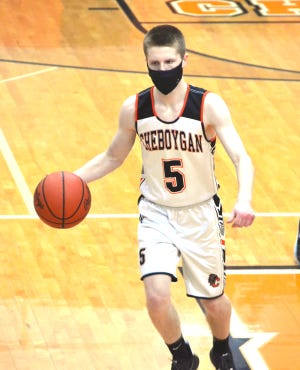 Senior guard Aidan Kosanke and the Cheboygan varsity boys basketball team improved to 2-0 on the season after rolling to a 41-25 victory at Sault Ste. Marie on Wednesday.