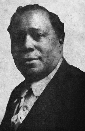 Clarence Powell in a very rare photo of him not using blackface makeup.