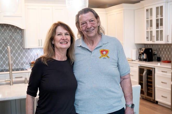 Sheryl and Freddie Murray enjoy their peaceful home in Leesburg.