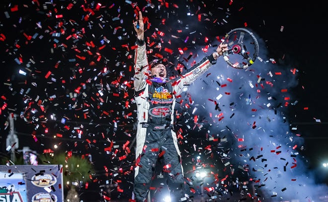 Kyle Strickler won the World of Outlaws Morton Buildings Late Model Series DIRTcar Nationals opener Wednesday night at Volusia Speedway Park, Feb. 10, 2021.