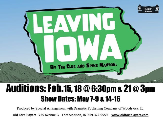 Old Fort Players has announced auditions for 'Leaving Iowa.'