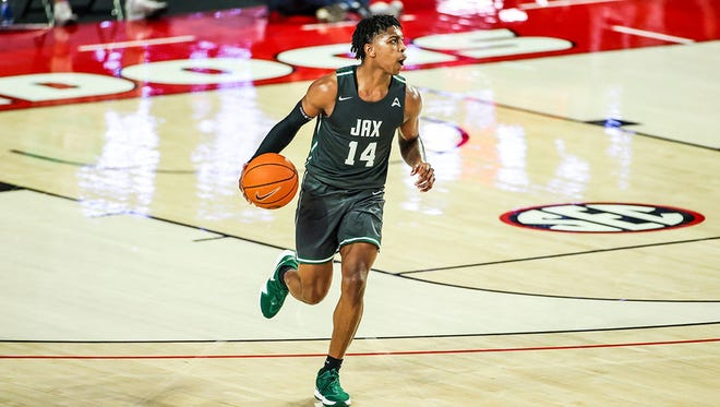 Mo Arnold of Jacksonville University had 13 points and seven rebounds in a game earlier this season at Georgia, continuing a trend in which he plays some of his best games on the road.