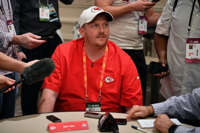 Kansas City Chiefs assistant coach Britt Reid, the son of head coach Andy Reid, was involved in a car crash late Thursday that left a five-year-old seriously injured, local media reported.