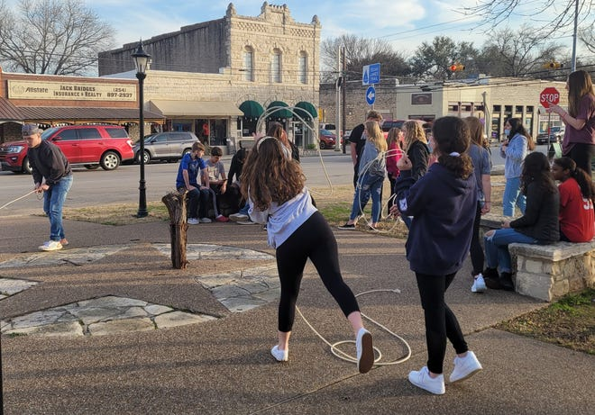 Kids gather on the Square on Fridays after school to play games and have fun with events sponsored by the Somervell County Safety Coalition and its community partners.