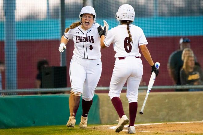 Sherman's Ava Gibson (8) and Miranda Farias will be two starters for the Lady Bearcats as the softball season kicks off next week.
