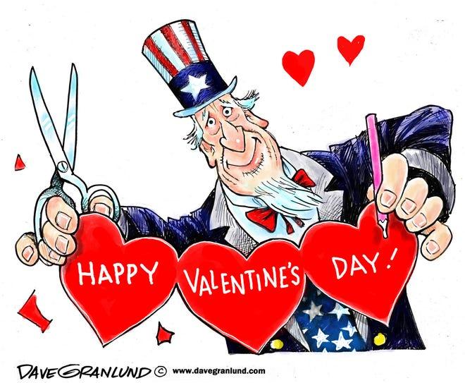 Dave Granlund cartoon on Valentine's Day