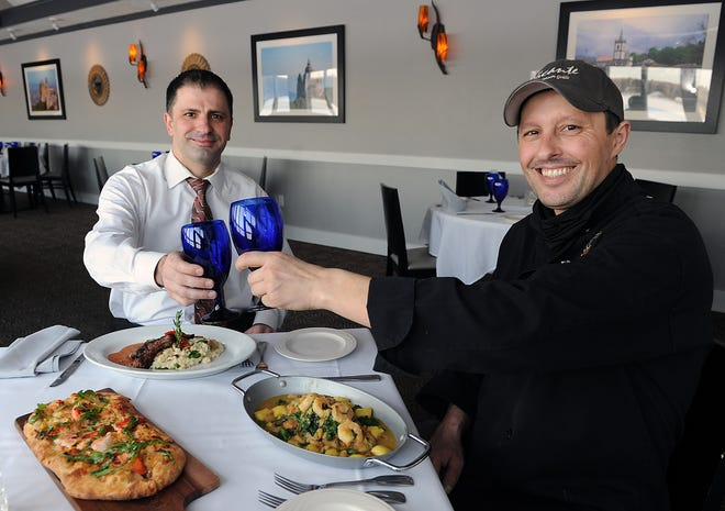 Alicante Restaurant owners Joe and Carlos Alves, Feb. 10, 2021, have special Valentine's Day offerings.