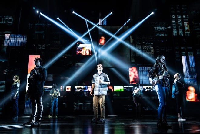 """""""Dear Evan Hansen"""" the story of a young man struggling to fit in, is a Kravis on Broadway performance. (Photo: Matthew Murphy)"""